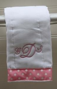 Custom Monogrammed Burp Cloth